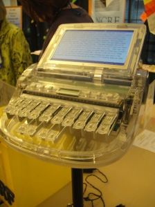 Transparent steno machine