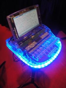 lit-up steno machine