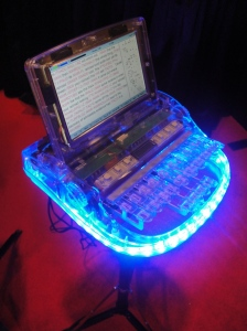 lit-up steno machine