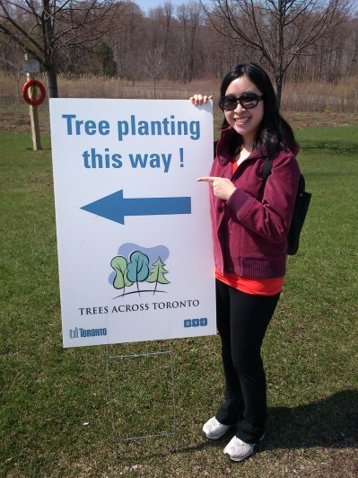 Tree planting accomplished! :)