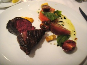 Hangar Steak Ontario Hot House Tomatoes, Romesco & Basil