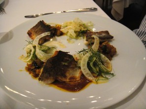 Mediterranean Sea Bass Caponata & Fennel Salad