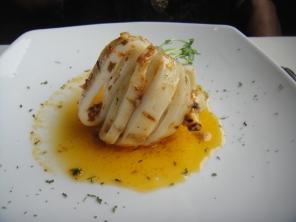 Grilled Calamari in a Wine Garlic Sauce