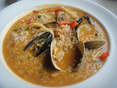 Arroz de Marisco / Seafood Risotto Clams, Mussels Shrimp and Calamari