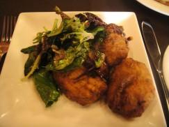 Kolokithokeftedes -- Zucchini croquettes with feta, kefalograviera cheese and fresh herbs