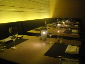 This is the view to the right side of me. Empty and available for hungry diners.