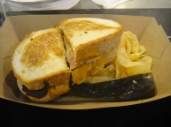 The delicious bacon grilled cheese sandwich