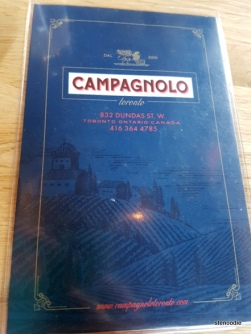 Campagnolo menu and prices